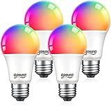 Smart Light Bulbs, Color Changing Dimmable LED WiFi Bulbs Work with Alexa...