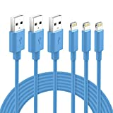 Lightning Cable MFi Certified - Nikolable iPhone Charger 3Pack 6ft Lighting...