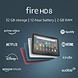 Certified Refurbished Fire HD 8 tablet, 8' HD display, 32 GB, designed for...