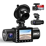 iiwey Dash Cam Front Rear and Inside 1080P Three Channels with IR Night...