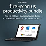 Introducing Fire HD 10 Plus tablet, 32 GB, Slate + Bluetooth keyboard +...