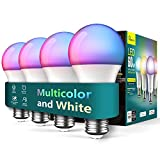 Smart Light Bulbs 4 Pack, Treatlife 2.4GHz Music Sync Color Changing Light...