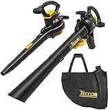 TECCPO Leaf Vacuum, 12 Amp 3-in-1 Leaf Blower/Vacuum/Mulcher, Mulching...
