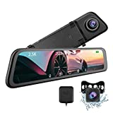 12' Mirror Dash Cam - CARCHET 2.5k Mirror Dash Cam for Cars with IPS Full...