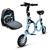 Jupiter Bike DLX - Smallest Folding Electric Bicycle Ebike Scooter with 10...