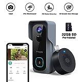 【32GB Preinstalled】WiFi Video Doorbell,MECO 1080P Doorbell Camera...