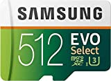 SAMSUNG EVO Select 512GB microSDXC UHS-I U3 100MB/s Full HD & 4K UHD Memory...