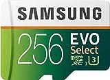 SAMSUNG ELECTRONICS EVO Select 256GB MicroSDXC UHS-I U3 100MB/s Full HD &...