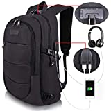 Travel Laptop Backpack Water Resistant Anti-Theft Bag with USB Charging...