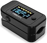 Santamedical Dual Color OLED Pulse Oximeter Fingertip, Blood Oxygen...