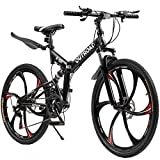 Max4out Mountain Bike Folding Bikes with High Carbon Steel Frame, Featuring...