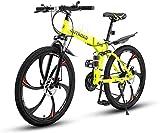 Outroad Folding Mountain Bike 6 Spoke 21-Speed 26-inch Wheel Double Disc...