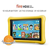 Fire HD 8 Kids Edition Tablet, 8' HD Display, 32 GB, Yellow Kid-Proof Case...