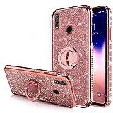 Case for Huawei P Smart 2019 Glitter Case,Sparkly Glitter Bling Diamond...