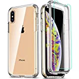 COOLQO Compatible for iPhone X Case/iPhone Xs Cases 5.8 Inch, with [2 x...