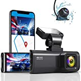 REDTIGER 4K Dual Dash Cam Built-in WiFi GPS Front 4K/2.5K and Rear 1080P...