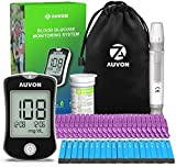 AUVON DS-W Blood Sugar Kit (No Coding Required), High-Tech Diabetes Blood...