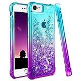 Ruky iPhone 6 6S 7 8 Case, iPhone SE 2020 Case, Gradient Quicksand Series...