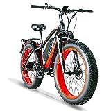 Cyrusher XF650 Electric Mountain Bike 264 inch Fat Tire E-Bike 7 Speeds...