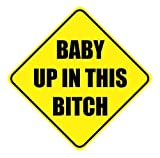 Sticker Baby in This Bitch Safety Size 5x5 inch (2 Pack) for Car Window...