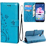 Teebo Wallet Case for Huawei P Smart (2018)/7S, with Kickstand Card Holders...