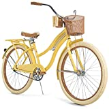 Huffy Nel Lusso Women's Classic Cruiser Bike Frame Yellow, 26'