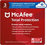 McAfee Total Protection 2021, 3 Device, Antivirus Internet Security...