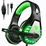Pacrate Gaming Headset with Microphone for Laptop Xbox One Headset PS4...