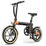 Macwheel 16' Electric Folding Bike, 7.5Ah Lithium-ion Battery, Top Speed...