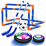 VEPOWER 2-in-1 Hover Hockey Soccer Ball Kids Toys Set, USB Rechargeable and...