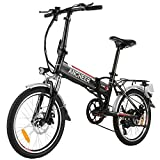 ANCHEER Folding Electric Bike Ebike, 20 Inch Electric Bicycle with 36V 8Ah...