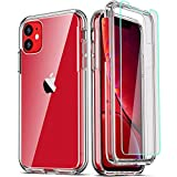 COOLQO Compatible with iPhone 11 Case, and [2 x Tempered Glass Screen...