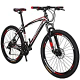 OBK 27.5 Wheels Mountain Bike Daul Disc Brakes 21 Speed Mens Bicycle Front...