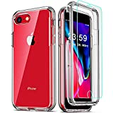 COOLQO Compatible for iPhone 8 /iPhone 7 /iPhone 6S/6 Case, with [2 x...