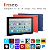Fire HD 10 Tablet with Alexa Hands-Free, 10.1' 1080p Full HD Display, 32...