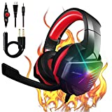 【2021 Upgrade】 7.1 Stereo Surround Sound with Mic PC Headset 50mm...