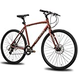 Hiland Road Hybrid Bike Urban City Commuter Bicycle with Disc Brake for Men...