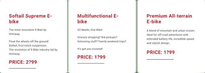 Himiway New Bike Models